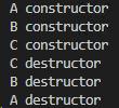 C++ 派生类的析构函数的执行顺序